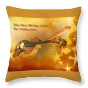 May Music Fill Your Heart Throw Pillow