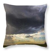 May Nebraska Storm Cells Throw Pillow