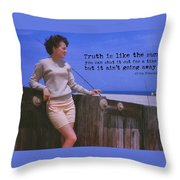 May September Romance Quote Throw Pillow