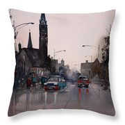 May Showers In Montello Throw Pillow