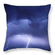 May Showers - Lightning Thunderstorm 5-10-2011 Throw Pillow