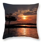 May Sunset At Detroit Point Throw Pillow