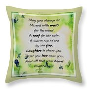 May You Always Be Blessed Throw Pillow