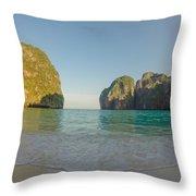 Maya Bay Sunrise Throw Pillow