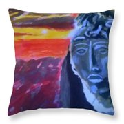 Maya Sunset Throw Pillow
