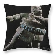 Mayan Athlete, 700-900 A.d Throw Pillow