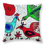 Mayan Birds Throw Pillow