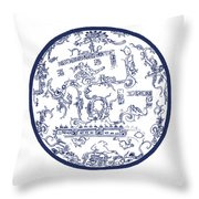 Mayan Cosmos Throw Pillow