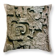 Mayan Glyph Throw Pillow
