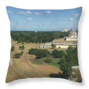 Mayan Observatory, Mexico Throw Pillow