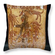 Mayan Priest 700-900 Ad Throw Pillow