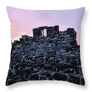 Mayan Ruins In Cozumel Mexico Throw Pillow