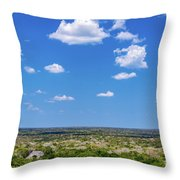 Mayan Temple And Landscape Throw Pillow