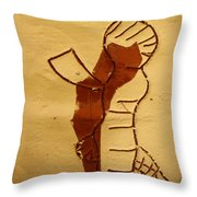 Maybe Baby Two I - Tile Throw Pillow