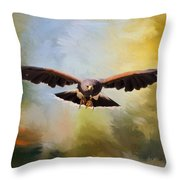 Maybe - Hawk Art Throw Pillow