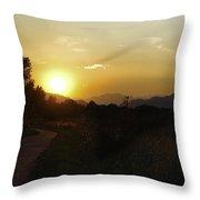 Mayfair Park Sunset Throw Pillow