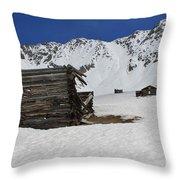 Mayflower Gulch Winter 3 Throw Pillow