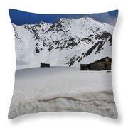 Mayflower Gulch Winter 4 Throw Pillow