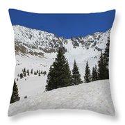 Mayflower Gulch Winter Throw Pillow
