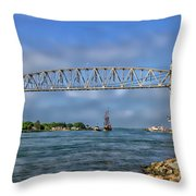 Mayflower Ll Tugged Throw Pillow