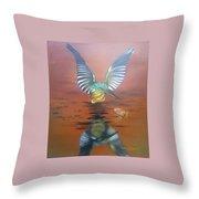 Mayfly Season Throw Pillow