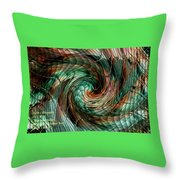 Mayhem Swirl Behind The Safety Net Catus 1 No. 1 H A Throw Pillow