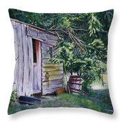 Mayne Island Sawmill Throw Pillow
