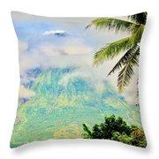 Mayon Volcano Throw Pillow