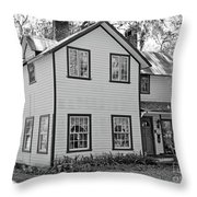 Mayors House Black And White Throw Pillow