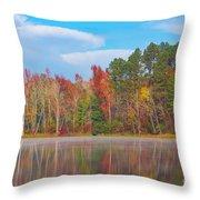 Mayor's Pond, Autumn, #4 Throw Pillow
