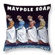 Maypole Soap Retro Vintage Ad 1890's Throw Pillow