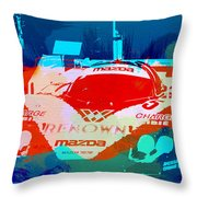 Mazda Le Mans Throw Pillow