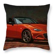Mazda Mx-5 Miata 2015 Painting Throw Pillow