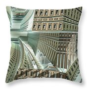 Maze Throw Pillow by Bernard MICHEL