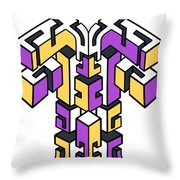 Maze Build 1 Throw Pillow