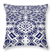 Maze Pattern Throw Pillow
