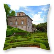 Mazed Garden Throw Pillow