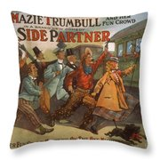 Mazie Trumbull And Her Fun Crowd Dads Side Partner Vintage Entertainment Poster 1908 Throw Pillow