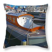 Mb 172 Epic Lass In Darling Harbour Throw Pillow