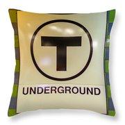 Mbta Underground Throw Pillow