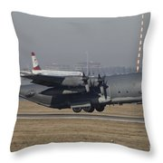 Mc-130h Combat Talon II Of The U.s. Air Throw Pillow