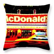 Mc Donalds On Broadway  Throw Pillow