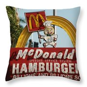 Mc Donalds Throw Pillow