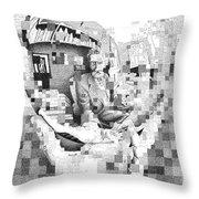 Mc Escher In His Own Words Throw Pillow