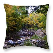 Mcarthur Bridge Over The Roaring Branch Throw Pillow