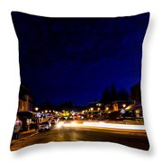 Mccall Road Night Throw Pillow
