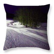 Mccauley Evening Snowscape Throw Pillow