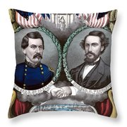 Mcclellan And Pendleton Campaign Poster Throw Pillow