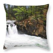 Mccloud Lowerfalls Throw Pillow