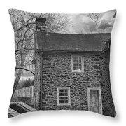 Mcconkey Ferry Inn Black And White Throw Pillow